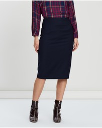 SABA - Celeste Wool Pencil Skirt