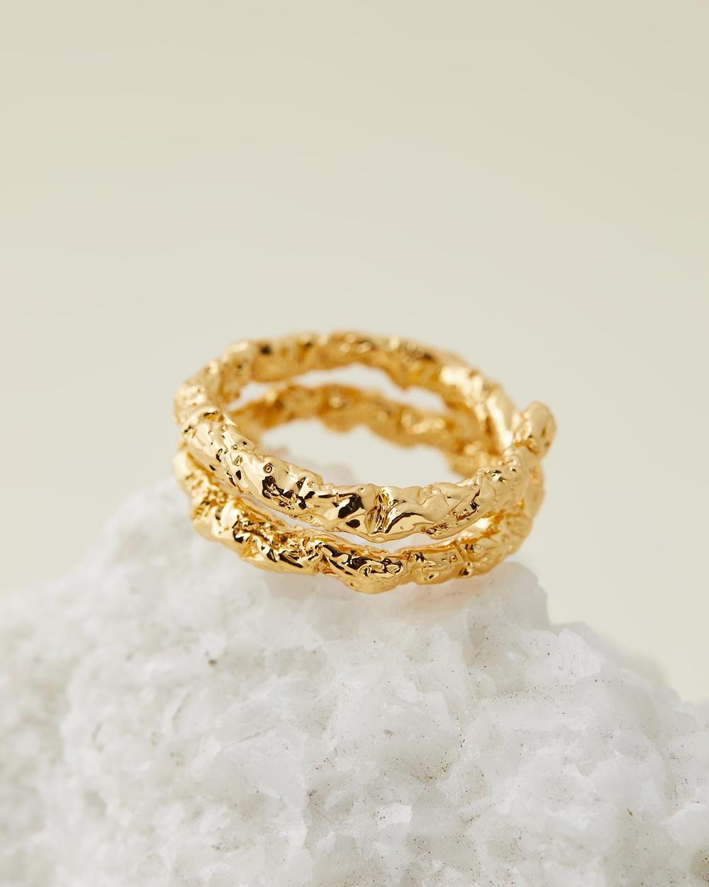 Amber Sceats Isla Ring Jewellery Gold