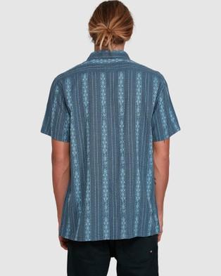 Billabong Sundays Jacquard Short Sleeve Shirt - Shirts & Polos (NAVY)