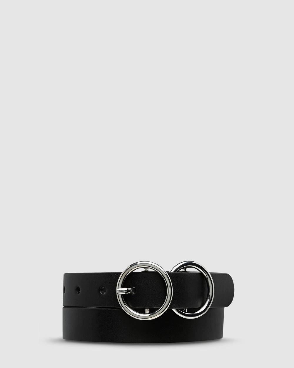 Status Anxiety Mislaid Skinny Belt Belts Black/Silver