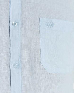 Coast Clothing Short Sleeve Linen Shirt - Casual shirts (Blue)