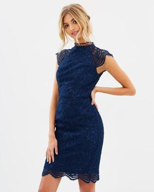 Chi Chi London – Elisia Dress Navy
