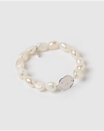 Izoa Felicity Bracelet Silver Freshwater Pearl