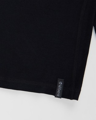 Le Bent Kids 200 Lightweight Raglan All base Layers Black