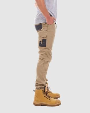 TRADIE Tradie Cuff Cargo Pants - Cargo Pants (KHAKI)