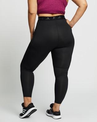 adidas Performance Curvy Alphaskin High Rise Long Tights - Full Tights (Black & Black)