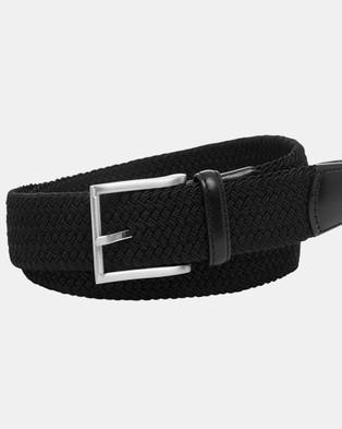 Buckle Crew 35mm Plaited Belt - Belts (Black)