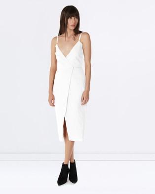 Third Form – Hold Tight Wrap Dress – Dresses (White)