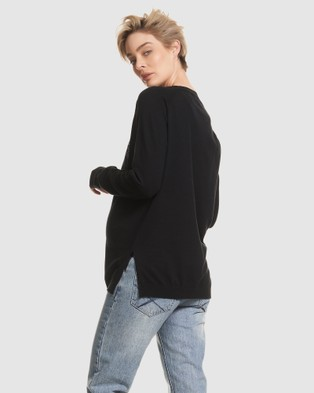 Soon Maternity 'You feet ve got this mama' Sweater - Jumpers & Cardigans (Black)