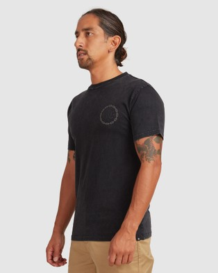 DC Shoes - Mens Chained Up Short Sleeve T Shirt T-Shirts (Black)