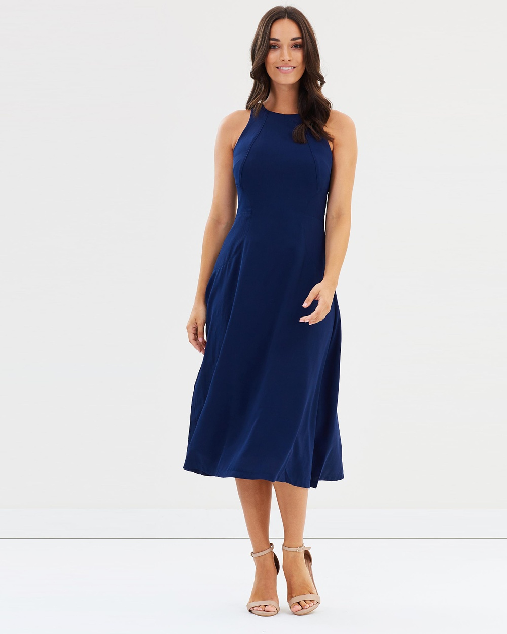 Forcast Quincy Flared Dress Dresses Navy Quincy Flared Dress
