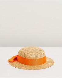 Morgan & Taylor - Isabelle Mini Boater Hat - Kids-Teen