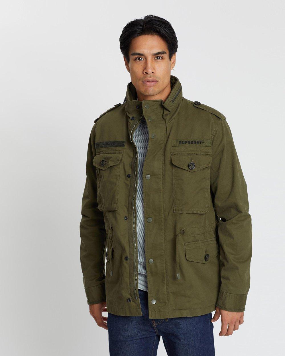 Superdry Men/'s Rookie Field Jacket In Ivy Green