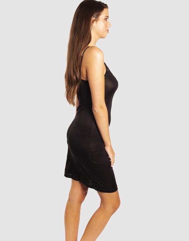 Women Silk Jersey Slip with Leavers Lace