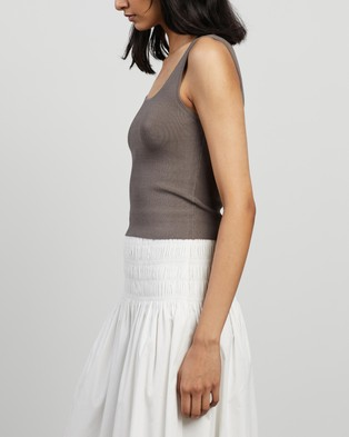 Elka Collective - Frame Knit Top T-Shirts & Singlets (Taupe)