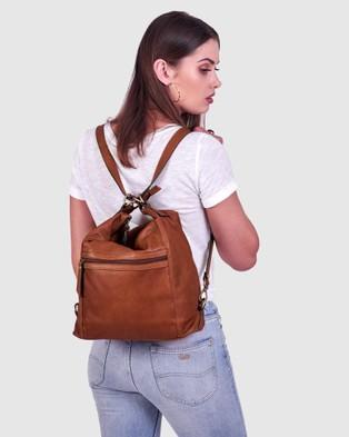 BEE The Elliot Brown Bag - Backpacks (Brown)