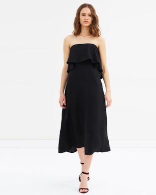 Grace Willow – Avalon Frill Dress – Bridesmaid Dresses Black