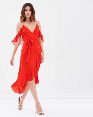 Buy Nicholas - Georgette Wrap Dress - Dresses (Red) -  shop Nicholas dresses online