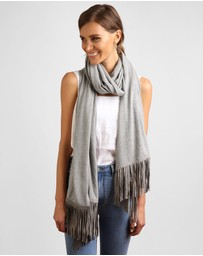 Arms Of Eve - Savanna Suede Tassel Shawl