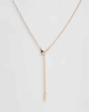 Mestige Infinity Set with Swarovski Crystals - Jewellery (Gold)