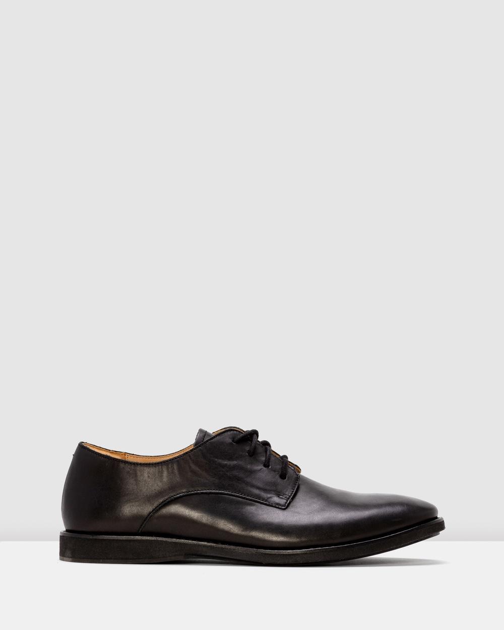 Rollie Derby Mens Shoes Flats Black Australia