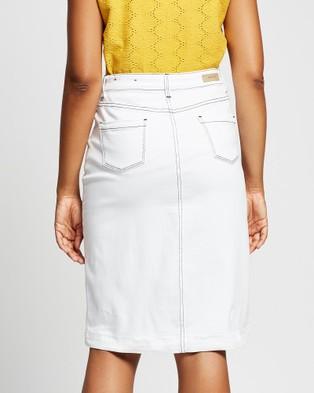 Marcs Tanya Denim Midi Skirt - Skirts (White)