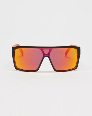 UNIT Command Polarised Sunglasses - Sunglasses (Matte Black & Orange)