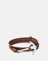 Miansai - Anchor On Leather Bracelet