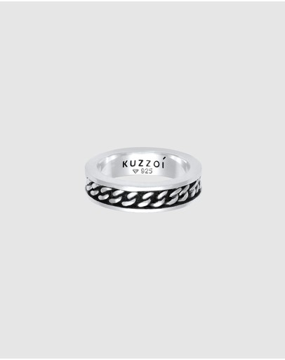 Kuzzoi - Ring Bandring Panzer Design Trend in 925 Sterling Silver
