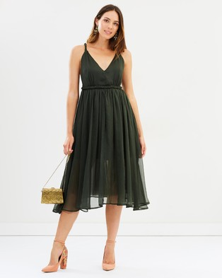 Mossman – The Twist And Ravel Dress Khaki