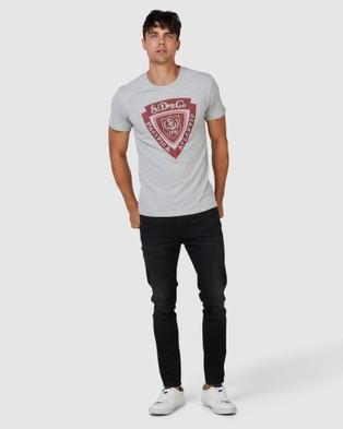 Superdry Spirit Of Japan Tee - T-Shirts (Grey Chalk Marle)