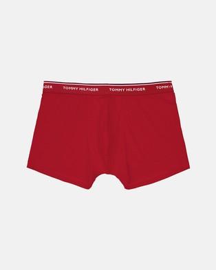 Tommy Hilfiger - 3 Pack Premium Essentials Stretch Trunks Underwear & Socks (Tango Red, Peacoat White) 3-Pack