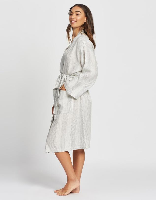 Women Resort Linen Robe