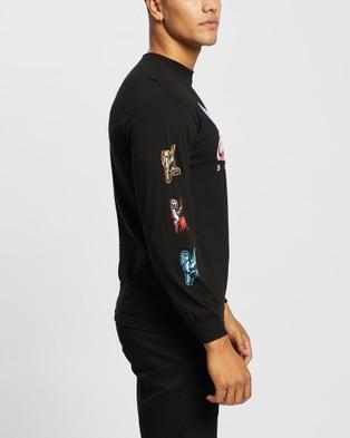 Brixton BB Time Machine LS Standard Tee Shirts & Polos Black