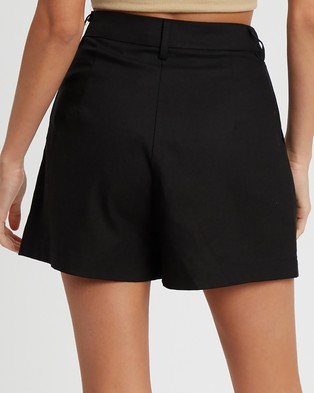 The Fated Estelle Shorts - High-Waisted (Black)