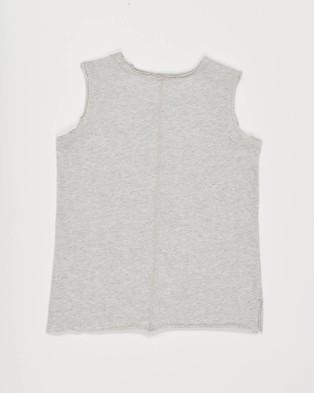 jac & mooki jnr Saint Tank - T-Shirts & Singlets (GREY MARLE)