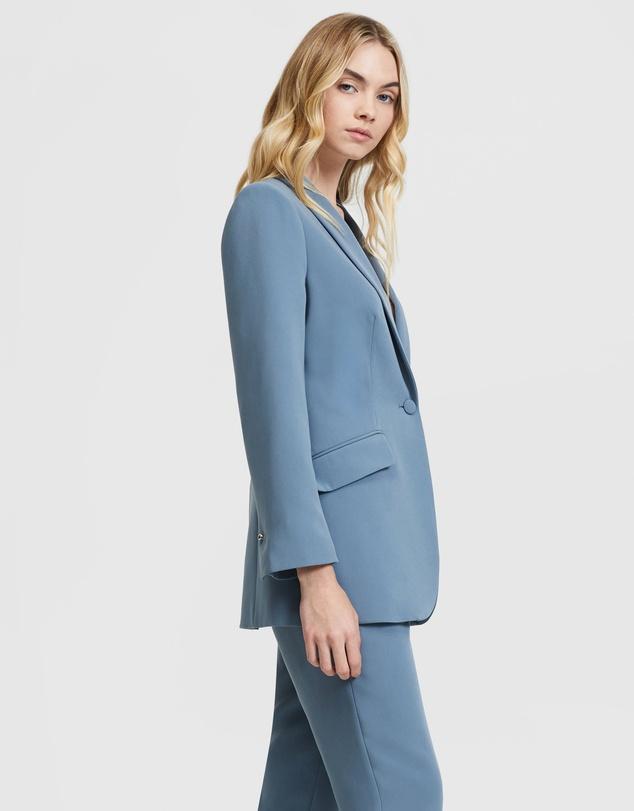 Women Belted Suit Jacket