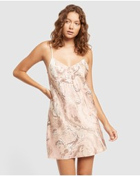GINIA - Marble Print Chemise