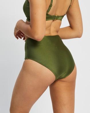 St. Swim Barbados High Waist Bikini Bottoms - Bikini Bottoms (Olive)