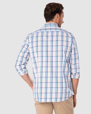 Gazman Tailored Fit Casual Stretch Check Long Sleeve Shirt - Shirts & Polos (Mandarin)