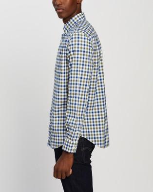 NAUTICA Classic Fit Plaid Shirt - Clothing (Olivine)