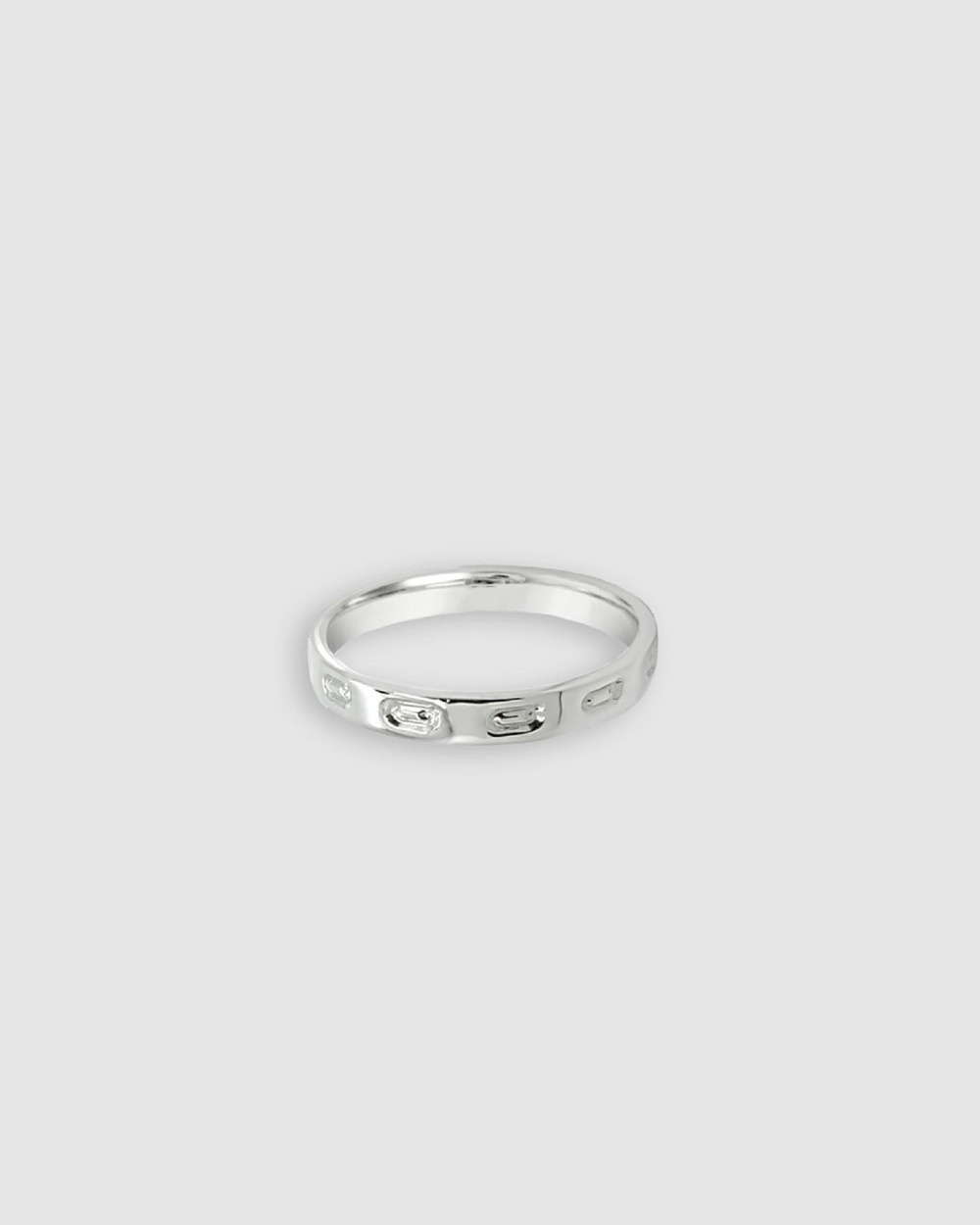 Ichu Personalised Letter Q Ring Jewellery Silver