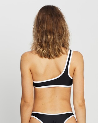 IT'S NOW COOL Asymmetric Duo Crop - Bikini Tops (Black & White)