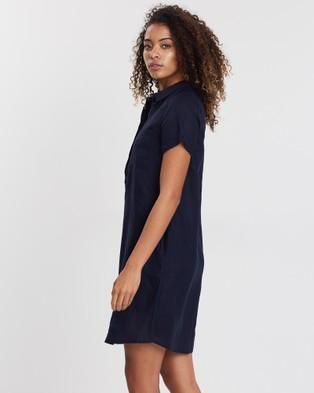 Sportscraft Baylie Linen Dress - Dresses (blue)