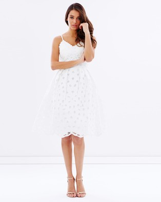Chi Chi London – Iona Dress – Dresses (White)