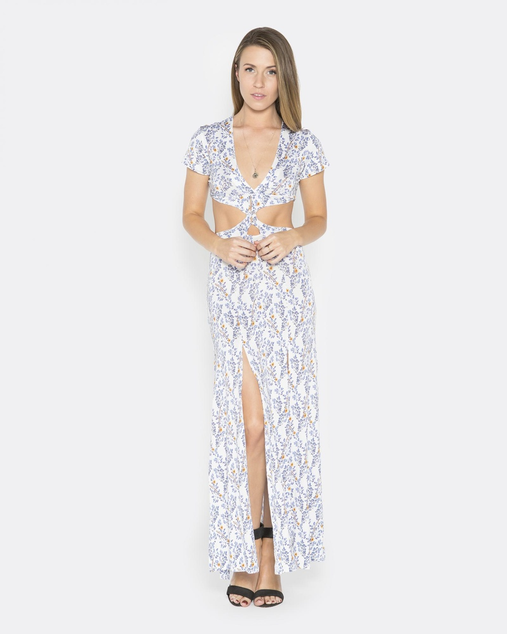 LALUNA White Twisted Dress