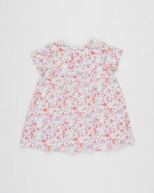 Cotton On Baby Milly Short Sleeve Dress   Babies - Dresses (Vanilla & Garden Floral)