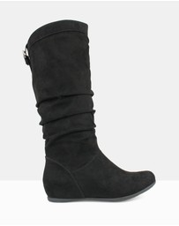 Betts - Oxley Ruched Knee-High Boots