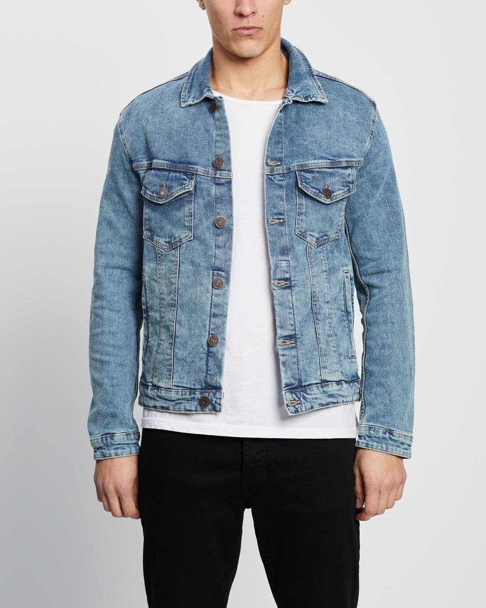 Jack & Jones Alvin Denim Jacket jacket Blue Denim Australia
