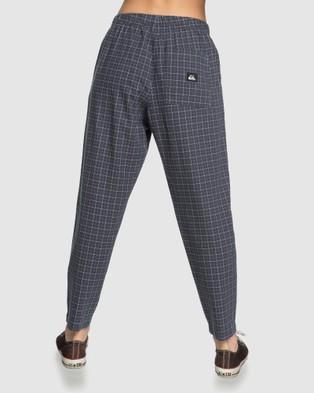 Quiksilver Quiksilver Womens Elasticated Check Pant - Pants (NINE IRON COTTON CHE)